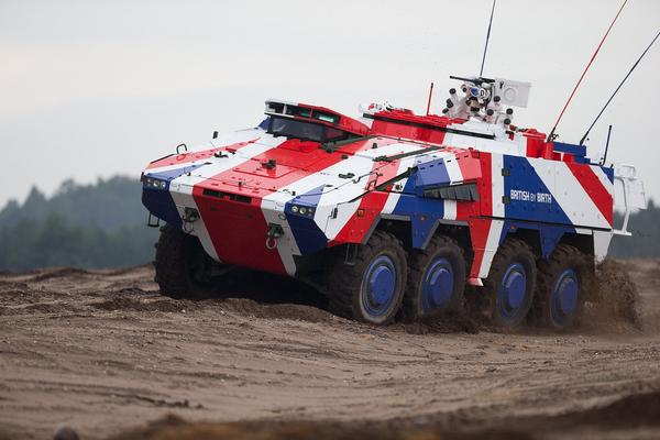 The UK was an early partner in the development of the Boxer CRV, hence the moniker 'British by Birth'. Credit: Rheinmetall