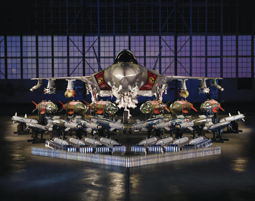 F-35 with full weapons load on display. Credit: Lockheed MArtin