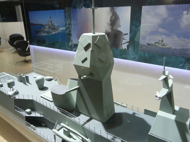 The CEAFAR2-L as it will appear on the Anzac class following the AMCAP upgrade. Credit: ADM Patrick Durrant