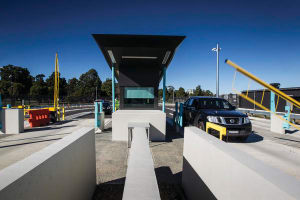 The new front gate at RAAF Base Richmond. Credit