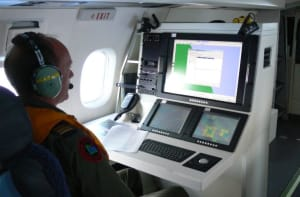 Display panel in aircraft.