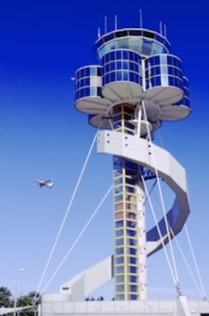 The air traffic control tower at Sydney Airport