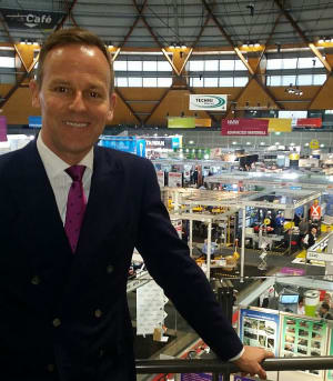 Dr Jens Goennemann at National Manufacturing Week, Sydney Olympic Park. Credit: AMGC