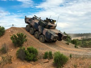 The AMV35 in action at Monegeetta. Credit: Defence