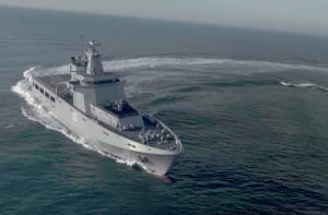 Luerssen's OPV80 design may well form the basis for their tender for Sea 1180. Credit: Luerssen