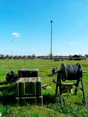 Part of the demonstration at Damascus Barracks in Brisbane. A field test of the system is planned for August. Credit: ADM Patrick Durrant