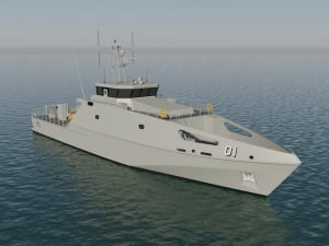 Austal's design rendition of the Pacific Patrol Boat replacement