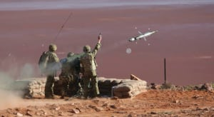 Live firing of RBS-70 missile by members of 16 Air Defence,111 Brigade, at the live firing range in Woomera, South Australia. Credit: Defence