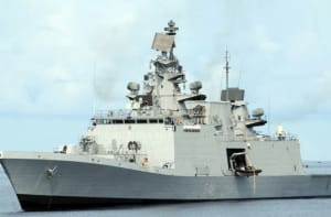 The Indian Navy's multi-role frigate, INS Satpura.