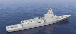 Artist's rendition of Navantia's Sea 5000 proposal based on the F-100 design. Credit: Navantia Australia
