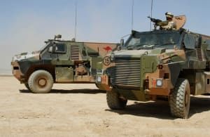Fiji will utilise the refurbished Bushmasters for UN operations in the Middle East. Credit: Defence