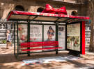 Australia Post gift wraps Shazamable bus shelters for Christmas