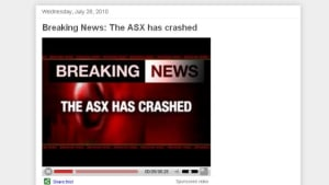 The ASX has crashed