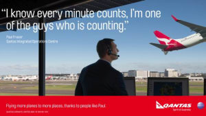 Qantas focuses on its people