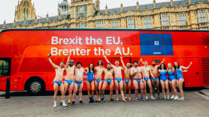 Budgy Smuggler tells UK to leave EU and join AU