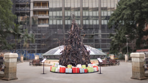 Red Cross launches the Burnt Christmas Tree via DDB Sydney