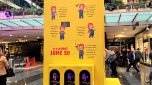 Child's Play comes to life in World Square, Sydney