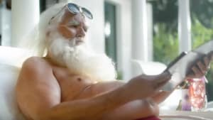 A swearing Santa stars in Whybin Sydney's work for Virgin Mobile