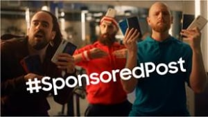 Samsung pokes fun at influencers with #SponsoredPost campaign
