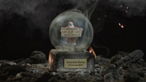 Greenpeace targets climate change blockers with ash filled Christmas snow globes