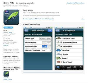 Aussie Launches Iphone Lure App Fishing World