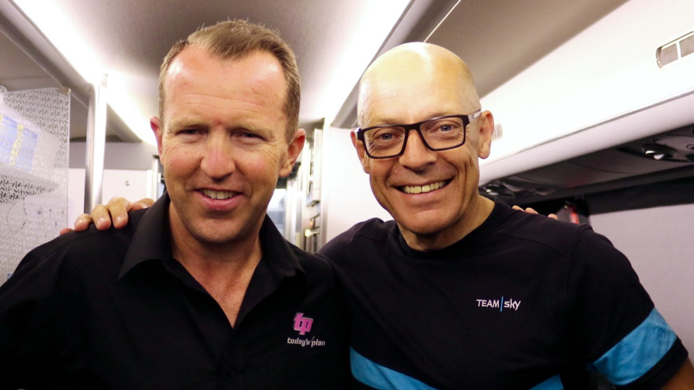 Ben Bowley, Managing Director of Today's Plan with Sir Dave Brailsford, Team Principal of Team Sky. Image: Supplied.