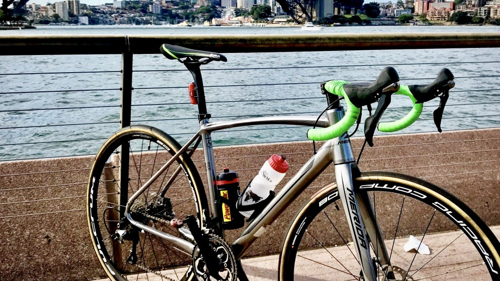 The back story to this image is this - there's a popular page on Facebook titled 'Straya, Look At My Bike Leaning Against Stuff'. Yes it sounds silly but is rather entertaining, particularly for those who love Australia and all things bikes. This is an image Bicycling Australia uploaded to that page during the week.