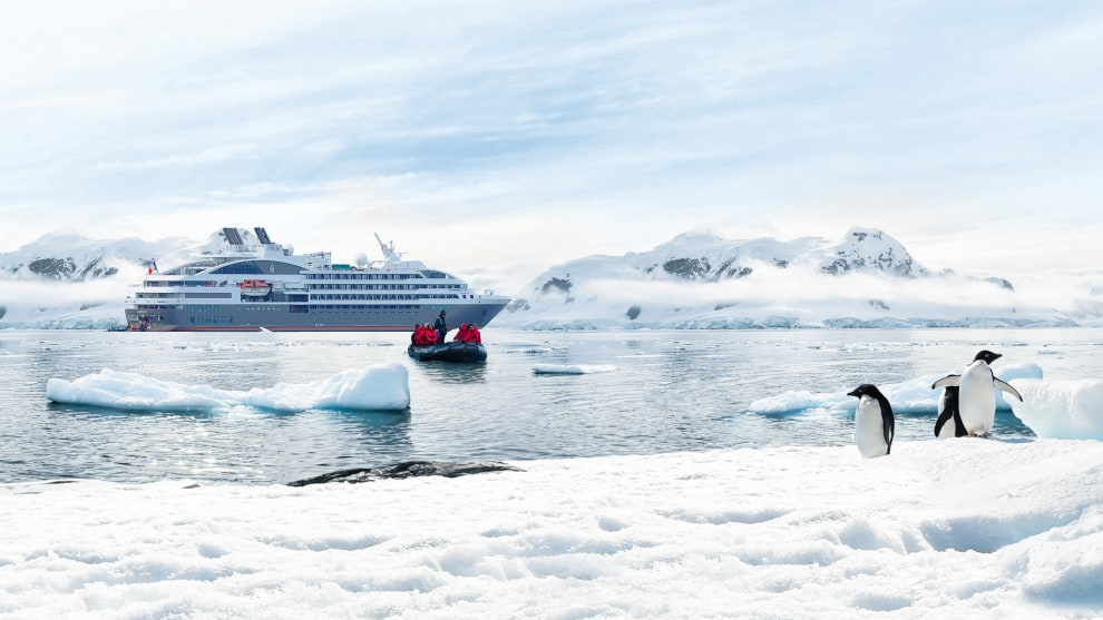 Explore Antarctica on board PONANT's fleet of small expedition ships. © PONANT Nathalie Michel