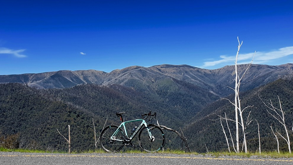 Bicycling Australia road-tested the 2019 Bianchi Infinito Disc on the dream roads of the Bright region in North West Victoria. Image: Nat Bromhead