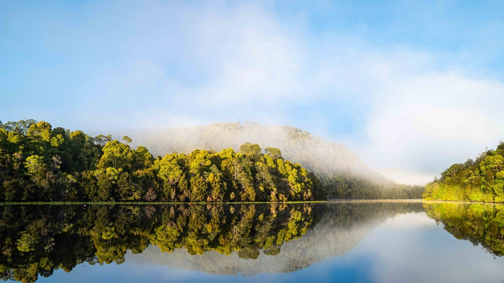 Tarkine reflections. This was the last of the morning fog. Make sure you're up early with your gear ready to capture shots when the conditions are right.  Leica Q2. 1/160s @ f8, ISO 400.
