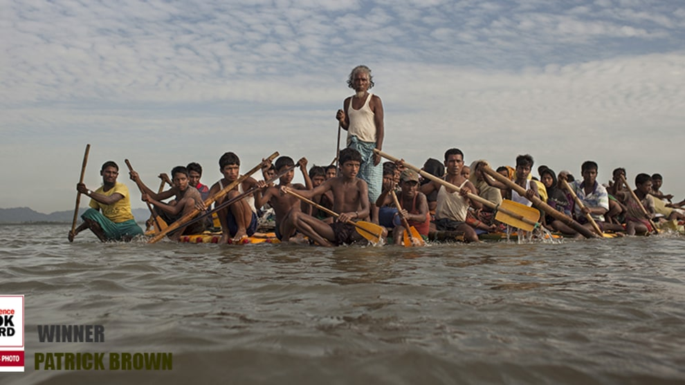 After 16 - 20 days waiting on the Myanmar border, around 500 Rohingya refugees cross the Naf River into Bangladesh using eight make-shift rafts made of logs, bamboos and plastic jerrycans. The journy takes around 5-7 hours. Bangladesh has sheltered around 1 million Rohingya refugees, including over 600,000 who have crossed the border since Myanmar army launched a crackdown following insurgent attacks on security forces on Aug 25. Dozens of Rohingyas have died in the capsize of boats crossing the Naf river during the latest exodus.
