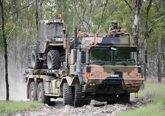 Project LAND 121 Phase 3B will acquire around 2700 medium and heavy vehicles, along with associated modules and around 1700 trailers. Credit: Defence