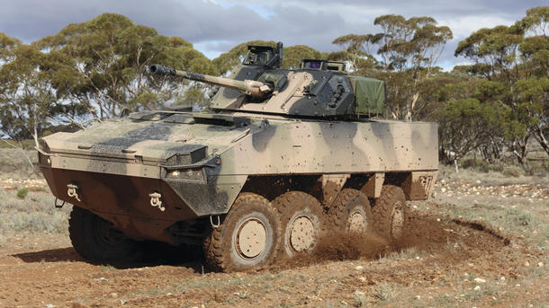 The AMV35 with the 30mm Haegglunds turret. Credit: BAE Systems
