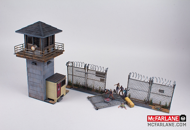 McFarlane Toys' The Walking Dead Building Set - The Prison Tower.