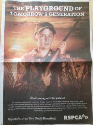 David Voss, President of the Australian Deer Association, says ads such as this one show that the RSPCA is moving away from their role as a government-sanctioned animal welfare regulator towards being an ideologically-driven, populist animal rights right group.