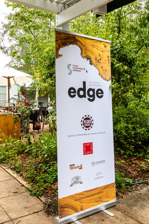 Exhibition banner at Sturt Gallery, Mittagong, NSW. Photo: Julijana Griffiths
