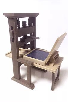 Small but perfectly formed: Model of Gutenberg's original press, available for $40 from the Penrith Museum of Printing
