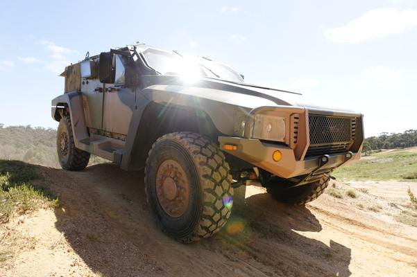 Penguin Composites is already involved in manufacturing bonnets and other parts for the Hawkei vehicles. Credit: Defence