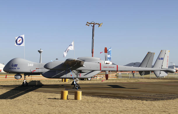 An IAI Heron on display at the Avalon airshow. Credit: Nigel Pittaway