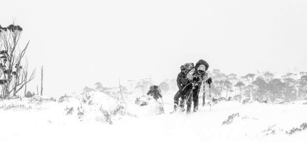 People's Choice Winner - 'Hikers battling through the blizzard' by Antoni Costa