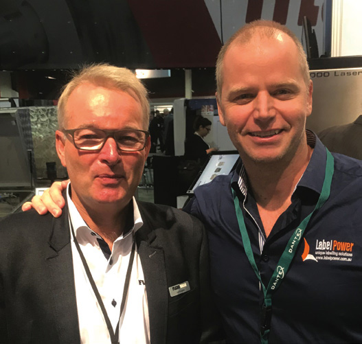 James Malone, Label Power (right) with Lars Kongstad, MD Flexowash.