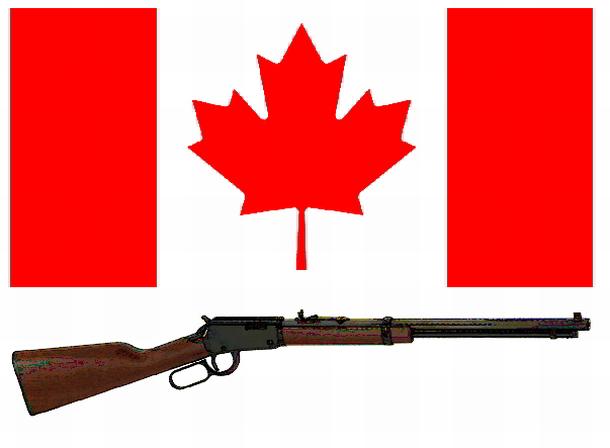 Maple leaf and rifle: rifle image Henry Rifles