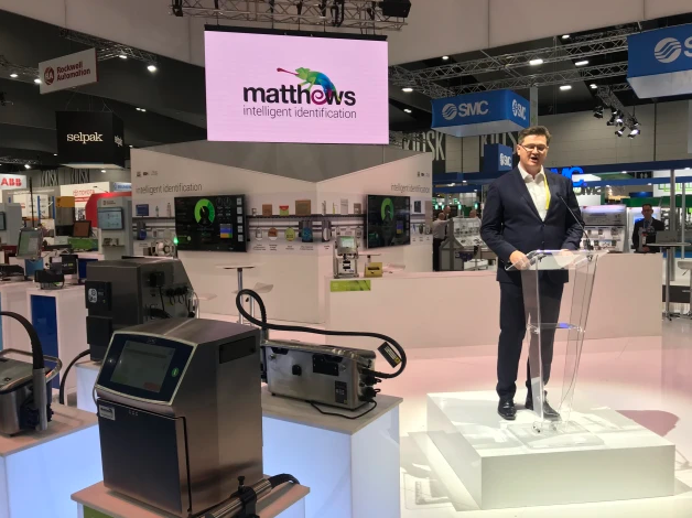 Mark Dingley, CEO of Matthews, announces the rebrand.