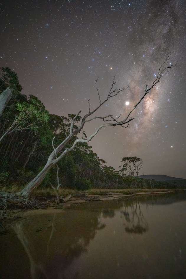 Bruny Island Photography Reserve. Milky Way nightscape. Photo by Jay Evans.