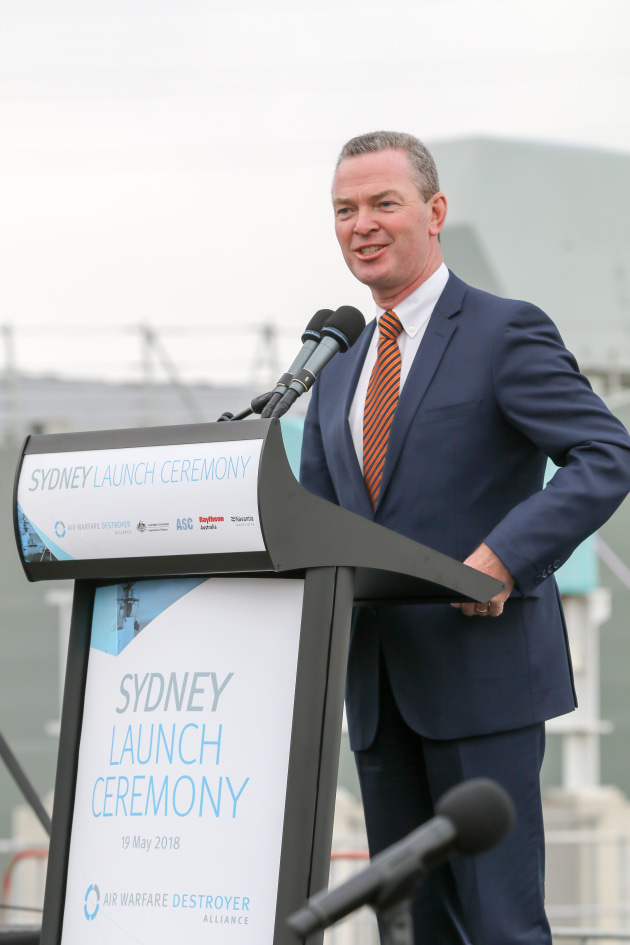 Minister Pyne at the Sydney launch. Credit: AWD Alliance