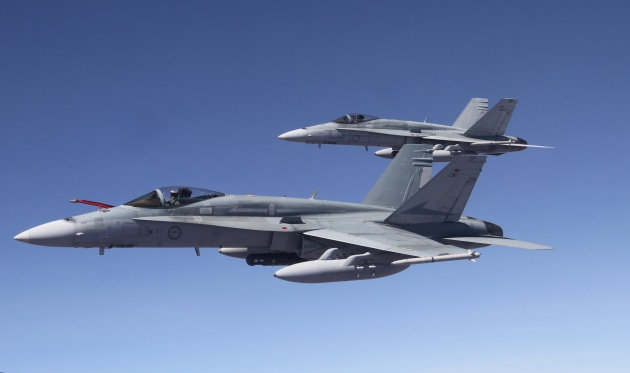 Between 18 and 25 Hornets will go to the Royal Canadian Air Force.