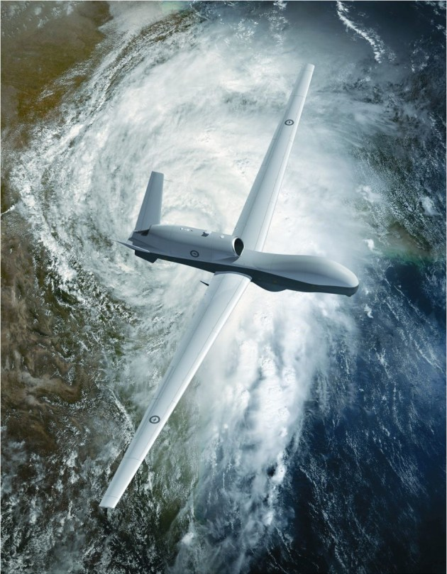 Up to 7 MQ-4C Tritons shall be acquired under Project Air 7000 Ph1B. Credit: Defence