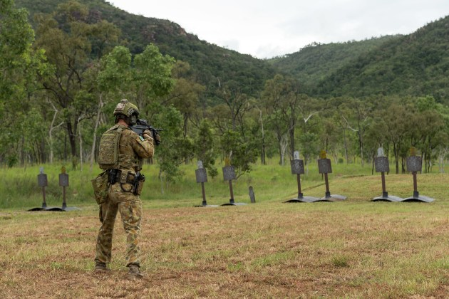 The rifle range will now play host to civilian shooters rather than the ADF.