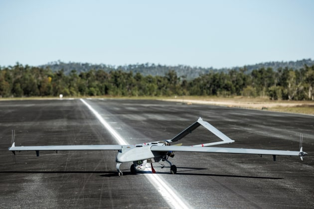The Shadow 200 unmanned aerial vehicle in operation during Exercise Hamel 2018 at Shoalwater Bay Training Area in Queensland. (Defence)