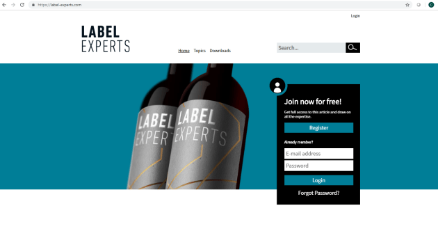 Label Experts allows converters to connect with expertise in the field.